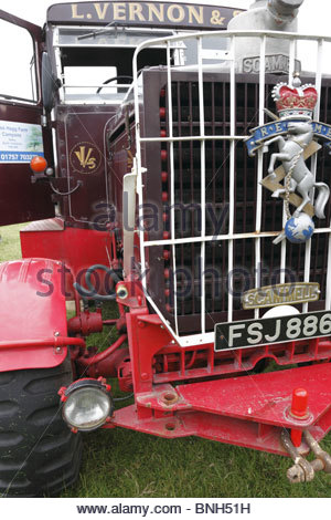 Scammell truck - Masham Steam Engine & Fair Organ Rally July 2010 Masham North Yorkshire England - Stock Photo