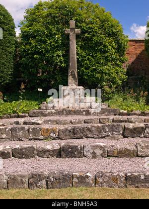 Ruins of Shaftesbury Abbey Dorset England UK - Stock Photo