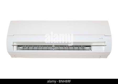 white air conditioner isolated on white background - Stock Photo