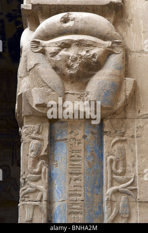 Valley of the Artisans. Ruins of Set Maat's settlement. Temple of Hathor and Maat built in ptolemaic era. Goddess - Stock Photo