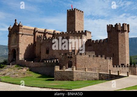 Castle Javier in Navarre, Northern Spain - Stock Photo