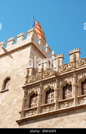 Detail of the Lonja de la Seda of Valencia in Spain - Stock Photo