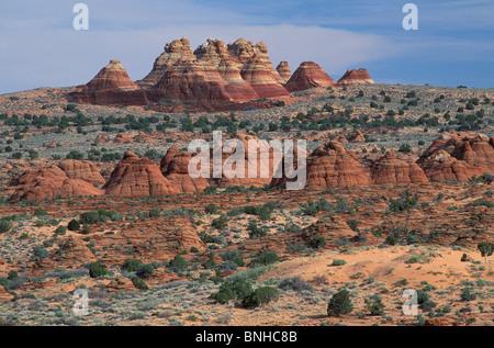 Usa Kanab Utah Cojote Buttes Grand Staircase Escalante National Monument Landscape Scenery Erosion Sandstone United - Stock Photo