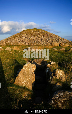Cairn T Passage Grave, Loughcrew Meagalithic Site, Slieve na Calliagh, County Meath, Ireland - Stock Photo