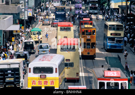 China Hong Kong Asia City Day Daytime Exterior Hongkong Outdoor Outdoors Outside Public transport Public transportation - Stock Photo