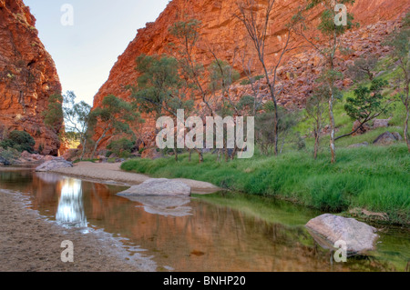Simpson's Gap, West MacDonnell National Park, near Alice Springs, Northern Territory, Central Australia - Stock Photo