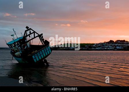 Europe UK England North Devon Appledore estuary port shipbuilding harbour harbor inlet seafaring historic tourist - Stock Photo