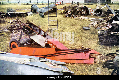 World War II French planes Invasion of France destroyed wrecks wreck shoot down aeroplanes aircraft aircrafts June 1940 Second