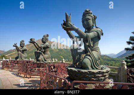 Hong Kong Hongkong Asia Lantau Iceland sculptures figures religion culture - Stock Photo