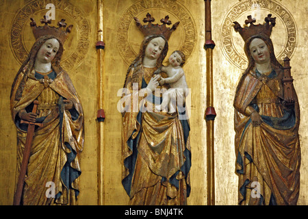 Germany Western Europe Europe European tourism travel Daytime Germany German Interior indoors Statue Church Cathedral - Stock Photo