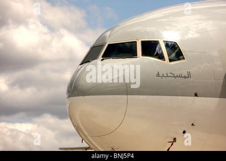 Qatar Airways Boeing 777-300ER Aircraft - Stock Photo