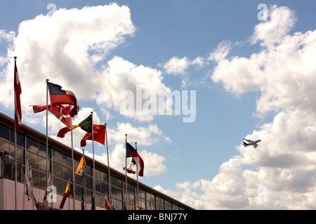 Airbus A380 Fying Over Farnborough Airshow - Stock Photo