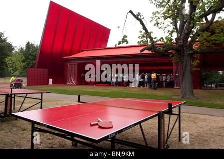 Serpentine Gallery 2010 designed by Jean Nouvel - Stock Photo