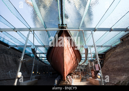 The hull of the S S Great Britain now resting in the Great Western Dockyard, Bristol. - Stock Photo