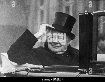 SIR WINSTON CHURCHILL about 1945 - Stock Photo