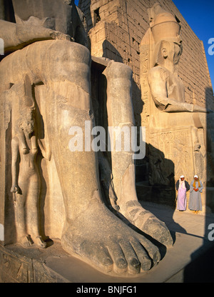 Egypt March 2007 Luxor city Luxor Temple Ramses Statue ancient historic culture - Stock Photo