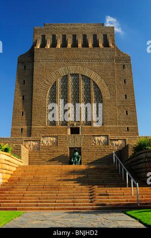 Voortrekker Monument Pretoria city Gauteng South Africa Boer history building - Stock Photo