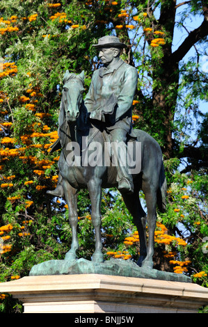 Cecil John Rhodes Statue Kimberley Northern Cape South Africa Rhodesia colonialism imperialism history Equestrian - Stock Photo