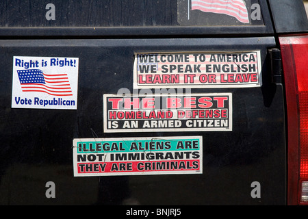 Conservative political bumper stickers