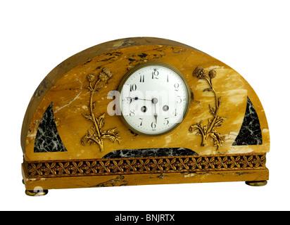 French Art Deco marble clock - Stock Photo