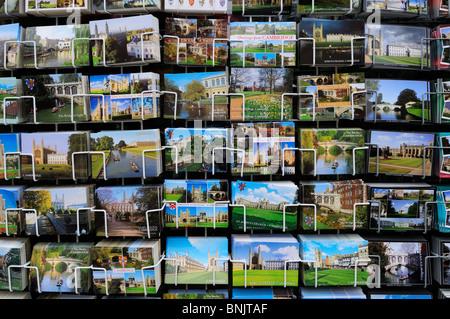 Postcards of Cambridge for Sale, Cambridge, England, UK - Stock Photo