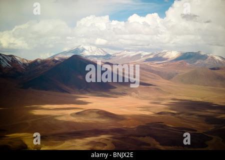 Aerial view of the Atacama desert, northern Chile - Stock Photo