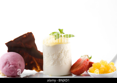 Stylish gourmet dessert - Stock Photo