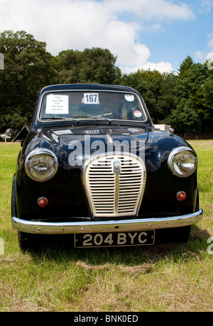 a 1958 austin a35 at a vintage rally in cornwall, uk - Stock Photo