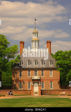 The Governor's Palace in the Historic Area of Colonial Williamsburg, Virginia, USA - Stock Photo
