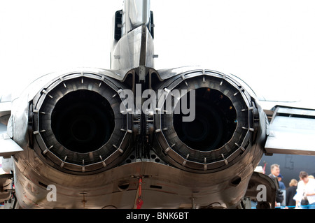 Rear shrouds on engine of Panavia Tornado fighter bomber - Stock Photo