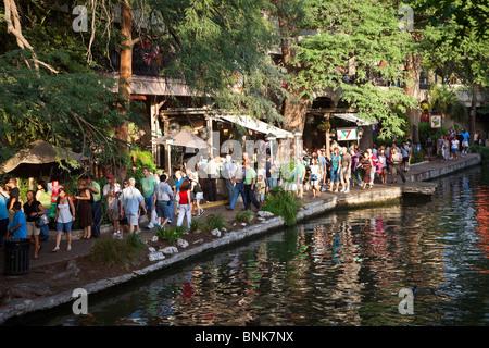 San Antonio River Walk Texas USA - Stock Photo