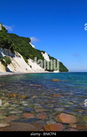 Chalk cliff , Jasmund National Park, Ruegen island, Mecklenburg Western Pomerania, Germany, Europe - Stock Photo