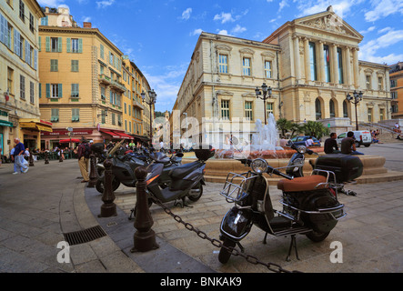 Street scene in downtown Nice on the French Riviera (Cote d'Azur) - Stock Photo