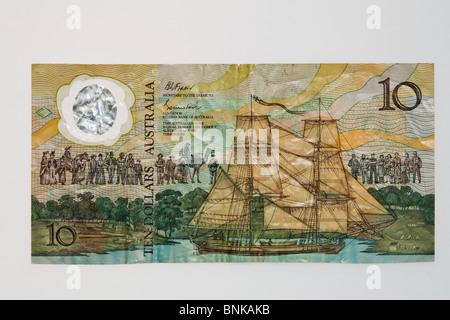 1988 commemorative 10 dollar polymer note - obverse - Stock Photo