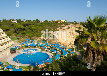 Algarve Portugal hotel pool hotel swimming-pool pool arrangement pool pools swimming pool swimming pools hotel hotels - Stock Photo