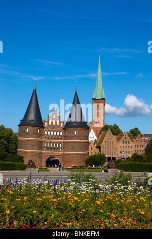 holstentor at lubeck germany stock photo royalty free. Black Bedroom Furniture Sets. Home Design Ideas