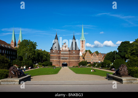 holstentor at lubeck germany stock photo royalty free image 24760667 alamy. Black Bedroom Furniture Sets. Home Design Ideas