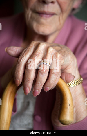 An old ladies hands. - Stock Photo