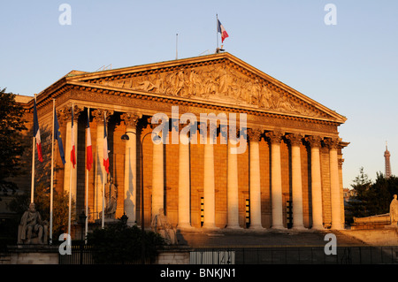 The French national assembly in Paris, France - Stock Photo