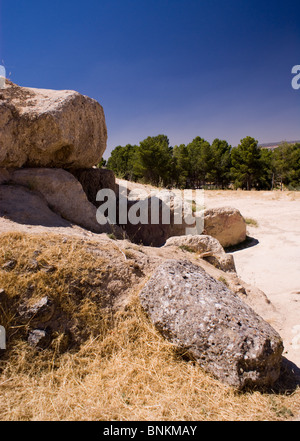 VIEWS OF THE DOLMENS ANTEQUERA SPAIN - Stock Photo