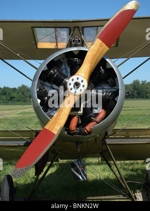British Sopwith Camel vintage WWI military airplane at Geneseo Air Show - Stock Photo