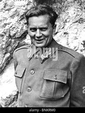 JOSIP BROZ TITO (1892-1980) Yugoslav revolutionary and statesman here about 1944 - Stock Photo