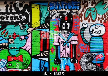 Graffiti in Brick Lane, Tower Hamlets, London, England, UK - Stock Photo