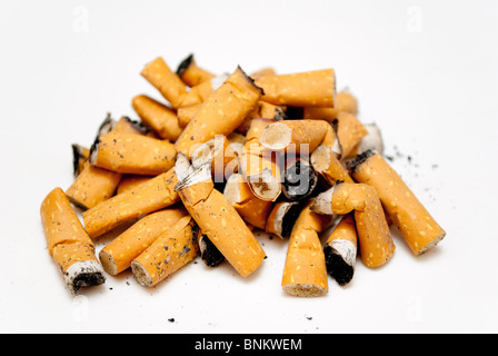 cigarette butts - Stock Photo
