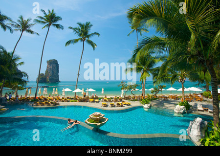 Asia Asian island isle Krabi South-East Asia Thailand Southern Thailand Centara Resort hotel pool hotel swimming - Stock Photo