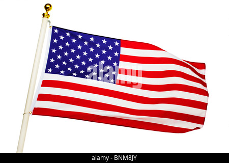 American Flag Flying - Stock Photo