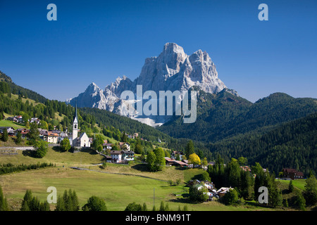 Italy Alps Veneto Dolomites Cadore hill wood forest meadows Pelmo holidays travel, Stock Photo