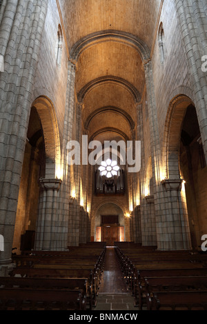 Interior of the Se Cathedral in Porto, Portugal - Stock Photo