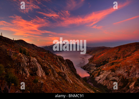 Autumn sunrise over Mt. St. Helens from Independence pass. - Stock Photo