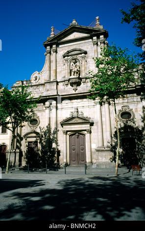 Església de Sant Miguel del Port on Plaça de la Barceloneta in Barceloneta district of Barcelona. - Stock Photo